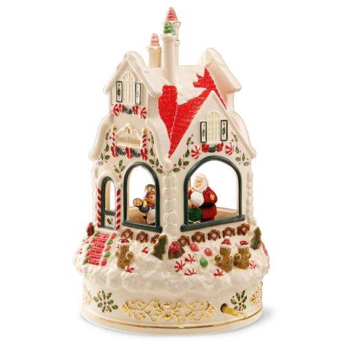 (Lenox Holiday Carved Santa's Bake Shop Centerpiece)