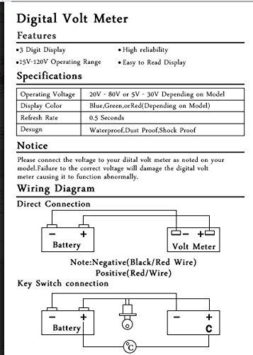 amazon com: cococart 48v led battery indicator meter gauge for ezgo club  golf cart yamaha car marine jet ski: automotive