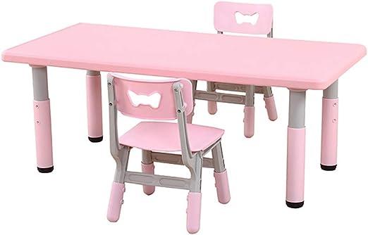 ZY Childrens study table and chair Juego de Mesa y Silla para niños, multifunción, para niños y niñas, de 2 a 13 años, Mesa de Juegos y sillas de plástico: Amazon.es: Juguetes