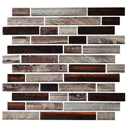 (Daltile Glass Mosaic Tiger Eye Tile Malayan TE25)