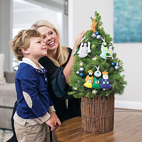 Holy Night Spruce Tree with Nativity Scene Ornaments ()