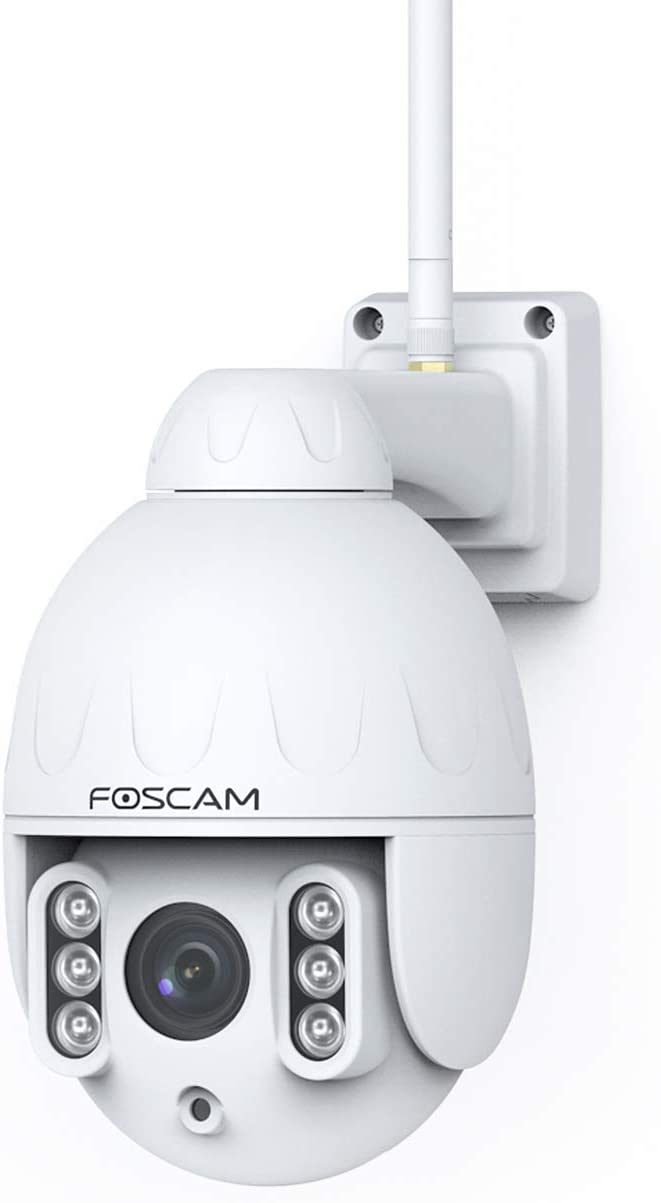 Foscam HT2 1080p Outdoor 2.4g/5gHz WiFi PTZ IP Camera, 4X Optical Zoom Pan Tilt Security Surveillance Speed Dome, 2-Way Audio with Mic & Speaker, 165ft Night Vision, CMOS Image Sensor, IP66