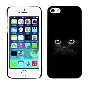 Be Good Phone Accessory // Dura Cáscara cubierta Protectora Caso Carcasa Funda de Protección para Apple Iphone 5 / 5S // Black Panther Cat