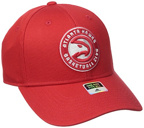 - NBA Atlanta Hawks Men's Basics Structured Adjustable Hat, One Size, Red