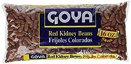 Goya Red Kidney Beans Dry 1Lb (3-Pack)