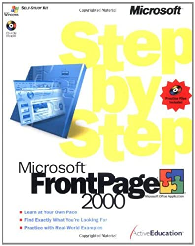 Microsoft FrontPage 2000 Step By Press ActiveEducation 9781572319806 Amazon Books