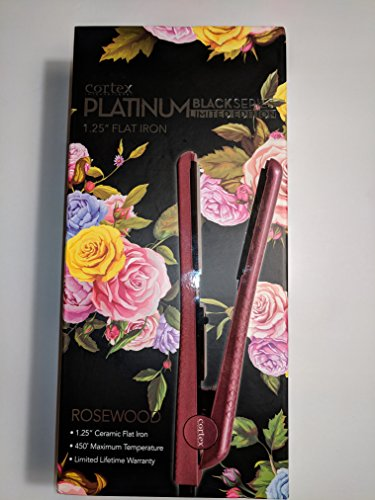 "Cortex Platinum Black series limited edition Rosewood 1.25"" flat iron"