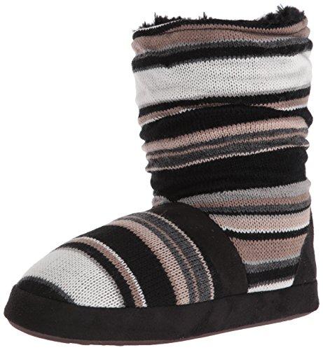Jenna Slipper Black Block LUKS MUK NEUTRL BLK Women's Stripe BwHqRx