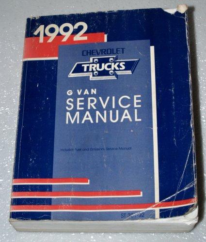 1992 Chevrolet G Van Service Manual (Sport Van Rally Van, Vandura Chevy Van, Hi-Cube Van)