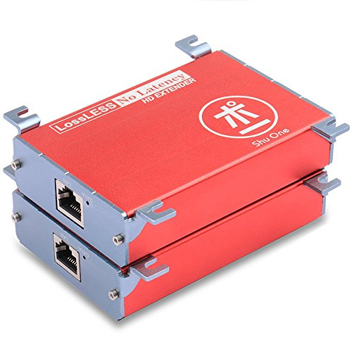 A/v Extender - HDMI Extender up to 120m /393ft Over Cat5/Cat5e/Cat6/Cat6e signle LAN Cable,No Latency Lossless Support Full HD 1080P RJ45 A/V Extender for DVR,DVD,Home Theater