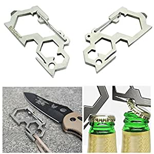 HeroNeo® Multi Tool Camping EDC Carabiner Screwdriver Wrenches Bottle Opener Tool New