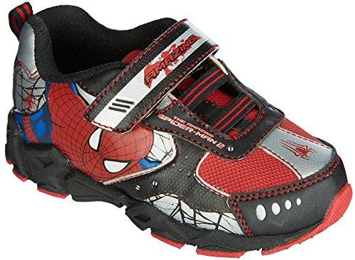 Marvel Boys Spider-Man Light Up Athletic Shoes 11 M Black/red -