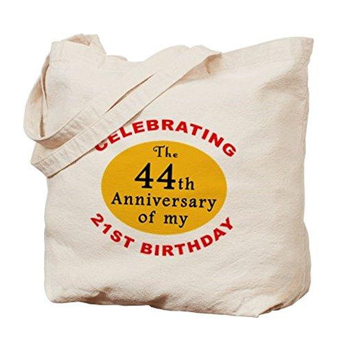 CafePress–Celebrating 65esimo compleanno–Borsa di tela naturale, panno borsa per la spesa