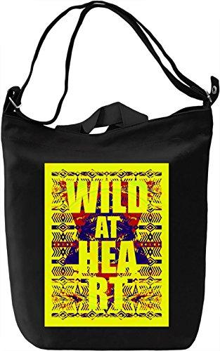 Wild At Heart Borsa Giornaliera Canvas Canvas Day Bag| 100% Premium Cotton Canvas| DTG Printing|