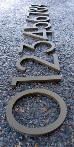 [해외]현대 집 번호 청동 색 알루미늄 현대 글꼴 번호 7 7 6 인치/Modern House Number Bronze Color Aluminum Modern Font Number Seven  7  6 inch