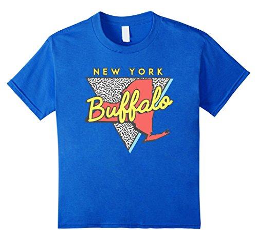 Kids Buffalo New York T Shirt Vintage Triangle 8 Royal Blue (Buffalo Kids T-shirt)