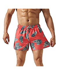 MaaMgic Mens 4 Way Stretch Swim Trunks with Mesh Lining Quick Dry Board Shorts