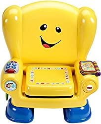 """It's baby's very own place to sit and discover new things! This """"magic"""" ABC seat knows when baby sits, activating songs and phrases when baby stands. Press the light-up remote or flip book pages to hear numbers, shapes and more. Lift the cushion to r..."""