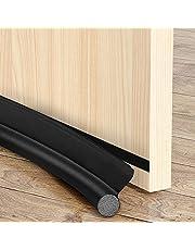 Tochtstopper voor deuren ramen 2 x tochtstopper, deurafdichting, 96 cm, zelfklevende schuimrubberen band, geluidsisolatie, op maat te snijden, wasbaar, geluidsbescherming, deurluchtstopper, zwart