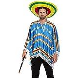 NEW BLEU DU MEXIQUE PONCHO WILD WEST Costume de déguisement [Jouet]