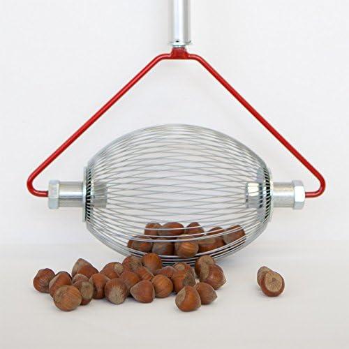 Pour les noisettes Le plus petit des collecteurs les olives etc -Argent/é Collecteur de noisettes Avec manche en bois