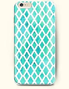 SevenArc Phone Shell New Apple iPhone 6 Plus case 5.5' -- Aqua Pastel Watercolor Moroccan Pattern
