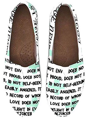 Custom Womens Slip-on Shoes, Toms, Tom's Style Shoes, Corinthians, Wedding, Bridal, - Tom Style