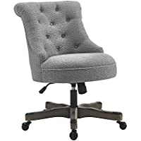 Linon 178403LTGRY01U Talia Office Chair, Gray