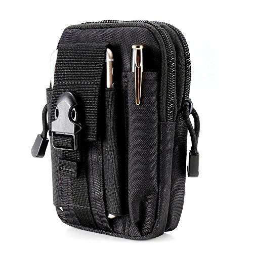 Tactical Molle Pouch Compact EDC Utility Gadget Belt Waist Bag Pack Camping Hiking Outdoor with Cell Phone Holster for iPhone 6 6s 7 8 PLUS Samsung S5 S6 S7 Edge - Pack Waist Utility Pouch