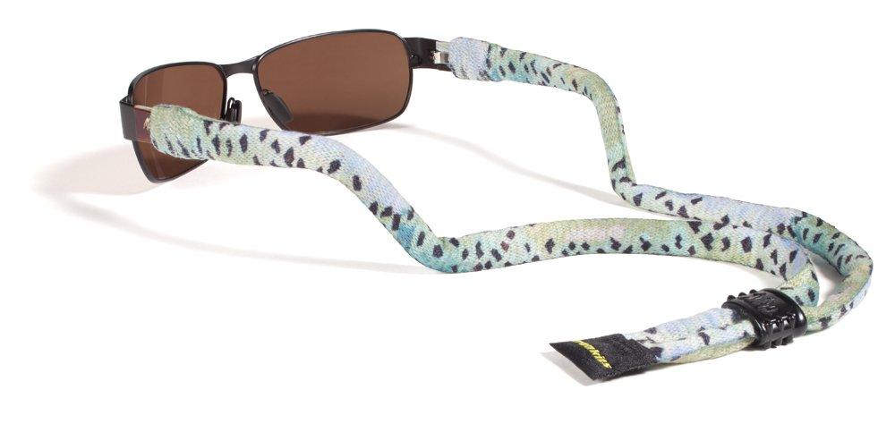 Croakies Suiters Eyewear Retainer, AD Maddox, Rainbow Fishskin by Croakies