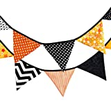 Wedding Banner Fabric Garland Flag 12 Flags 3.2m Handmade Beautiful Halloween Cotton Fabric Bunting Pennant Flags Banner Garland Home Party DIY Chritmas Crafts