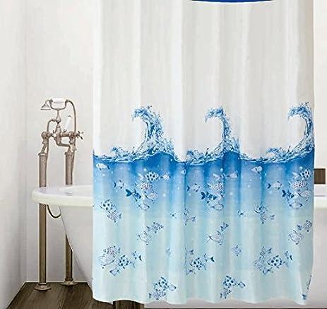 Amazon Fabric Fish Shower Curtain With Hooks Underwater Sea