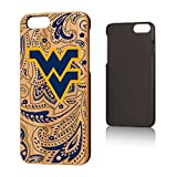 Keyscaper NCAA West Virginia Mountaineers KBAMI6-00WV-PAISL1 Apple iPhone Bamboo Case, iPhone 6/6S, Wood