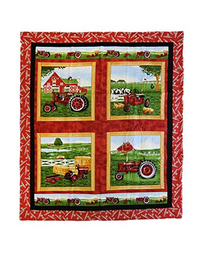 Farmall Tractor Wall Hanging or Baby Quilt, green