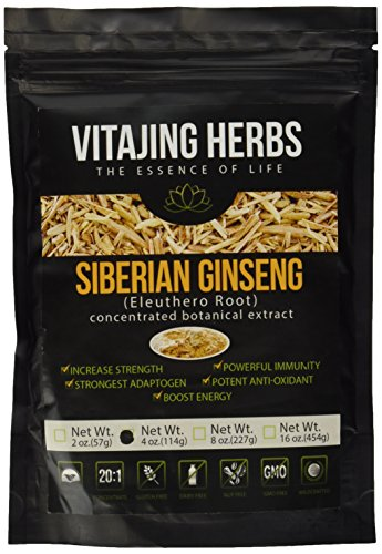 Siberian Ginseng Extract Powder (Eleuthero Root) ★★★20:1 CONCENTRATION★★★ (4oz - 114gm)