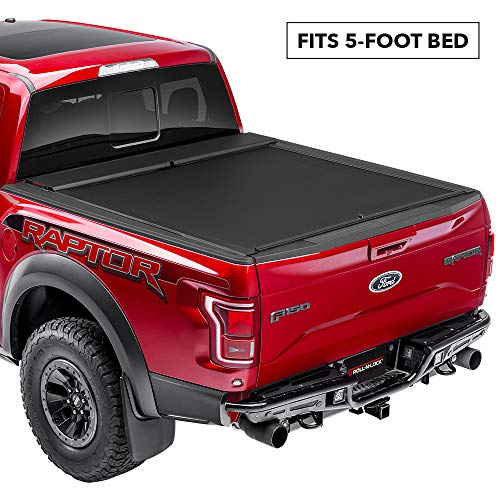 Roll-N-Lock LG507M Locking Retractable M-Series Truck Bed Tonneau Cover for 2005-2015 Toyota Tacoma Double Cab | Fits 5' Bed