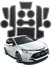 Non stuoia di slittamento, Slot tazza dell'acqua Storage Box porta pad in gomma Mats for Toyota Corolla E210 2019 accessori interni dell'automobile (Size : White)