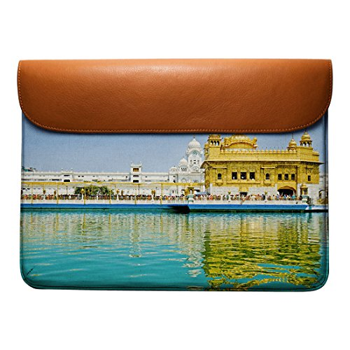 Temple Leather The Sleeve Pro 13 DailyObjects Real Macbook Air Envelope For Golden pFOFqgE