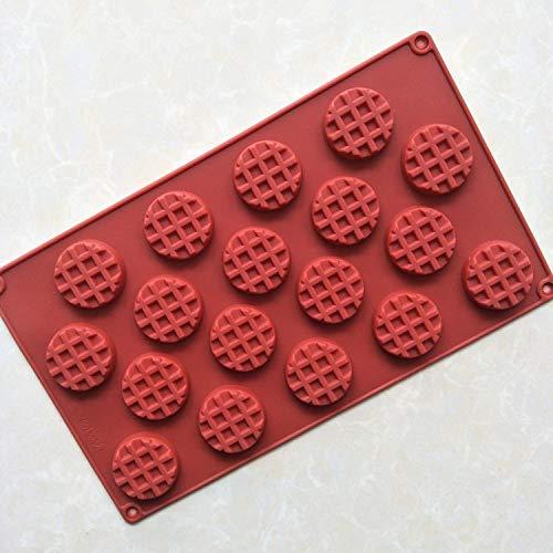 1 piece Family Snacks Silicone Waffle Mold Maker Pan Microwa