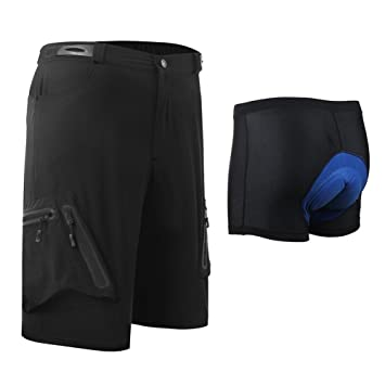 Capplue Casual Outdoor Cycling Shorts Set MTB Biking Shorts Loose Padded Cycling  Shorts 3D Coolmax Bicycle 4807eb792