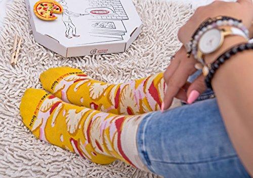 Pizza Socks Box - 4 Pairs | Hawaii, Italian, Pepperoni | Kawaii Socks 6
