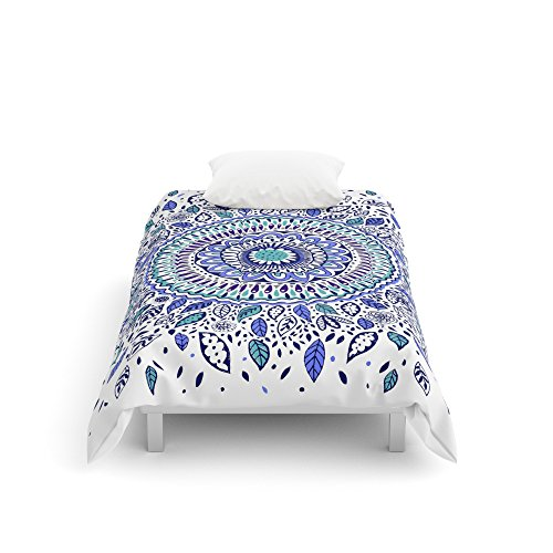 Society6 Indigo Flowered Mandala Comforters Twin: 68