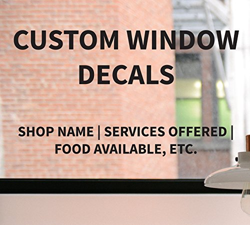 Custom Business Decal, Custom Window Decal, Storefront Business Sign, Business Advertising, Business Decal, Custom Lettering, Window - Tracking Usps Found Not