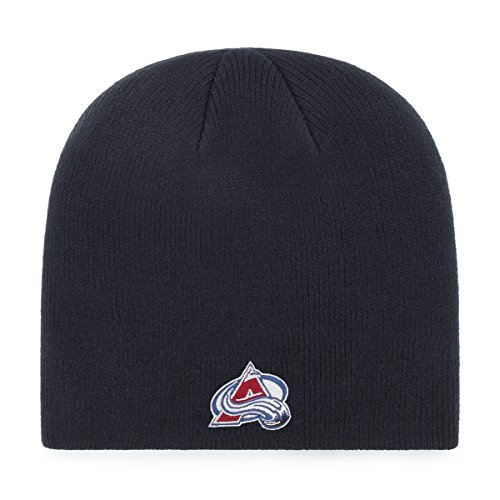 OTS NHL Colorado Avalanche Beanie Knit Cap, Navy, One Size