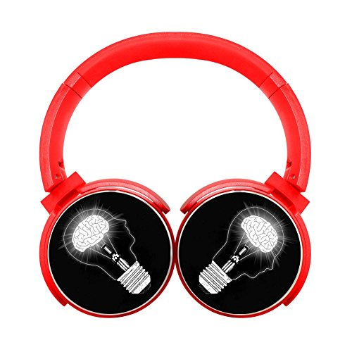 Noise Reduction Wireless Hifi Stereo Bass Over Ear Bluetooth Headset Foldable Soft Memory Protein Earmuffs For Pc/Cell Phones/Tv 3.5Mm Plug,Print Bright ()