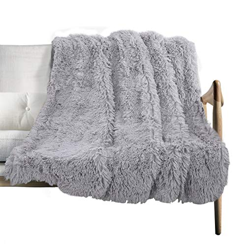 - Shaggy Long fur Throw Blanket, Super Soft Faux Fur Lightweight Warm Cozy Plush Fluffy Decorative Blanket for Couch,Bed, Chair(51
