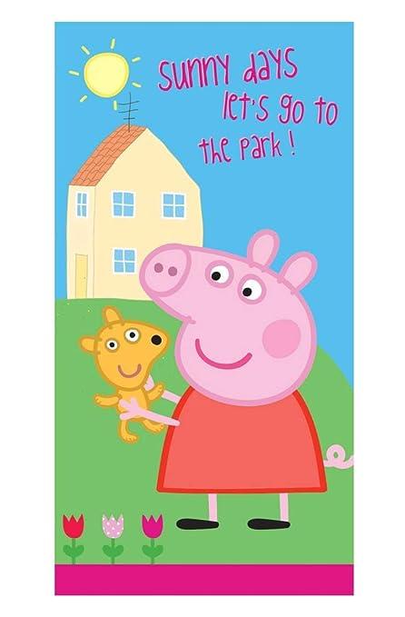 Peppa Pig – La gechenkidee para niños – Toalla/Sauna Toalla de baño/Toalla