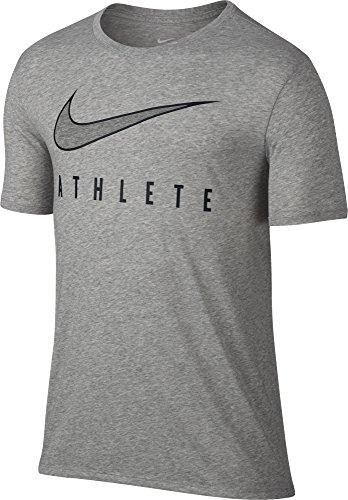 Nike Dry Athlete T-Shirt Dark Gray Heather/Black Size XXL (Ape Logo T-shirt)