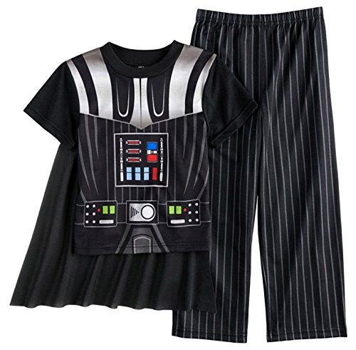 Star Wars Dress Like Darth Vader Caped Pajama For Little Boys (4) -