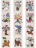 Seasonal Silhouettes Full Set Laser Cut Fusible Applique Kit With Fabric, Sewing Kit